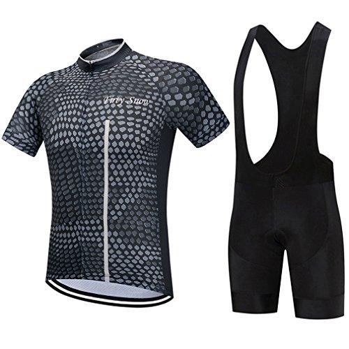 Cycling Clothing Short Sleeve Summer MTB Black Bike Bicycle Jerseys Set