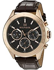 Tommy Hilfiger Mens 1791225 Hudson Analog Display Japanese Quartz Brown Watch