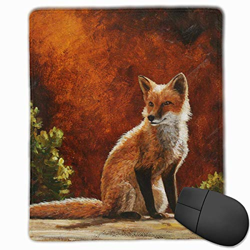Sun Fox Crista Forest Quality Comfortable Game Base Mouse Pad with Stitched -