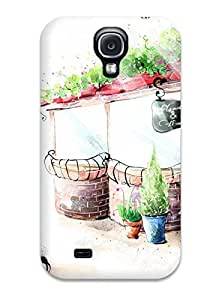 New Style New Arrival Premium S4 Case Cover For Galaxy (flowers & Coffee)