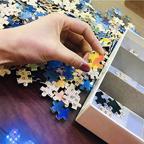 PTYPT Jigsaw Decompression Large Adult Adult Cartoon Wooden Jigsaw Super College Student Wooden Jigsaw 1000 Pieces