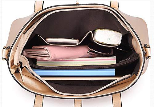 rosso In Borsa Tibes Borse Bianco Sacchetti Pelle A Cartella Donna Borsa Sacchetto Tracolla Vino 71wS06xa