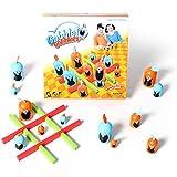 Gobblet Gobblers チェスボードゲーム家族の親子チャイルド玩具のラインナップ (Blue-Orange)