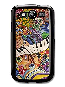 Accessories The Beatles Rock Art Piano Eyes Illustration case for Samsung Galasy S3 I9300
