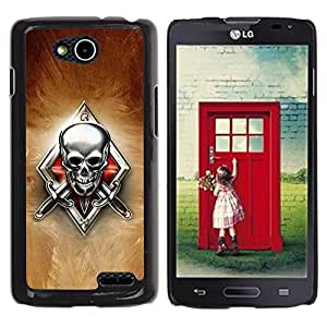 LECELL -- Funda protectora / Cubierta / Piel For LG OPTIMUS L90 / D415 -- Skeleton Crest --