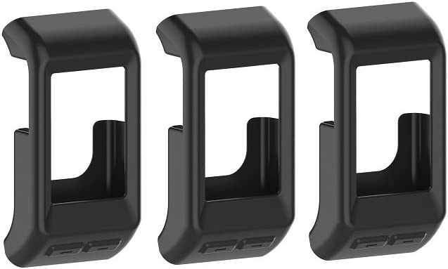 TenCloud Band Covers Compatible with Garmin Vivoactive HR Smart Watch Accessories Protective Cover for Vívoactive HR (Black-3 Packs)