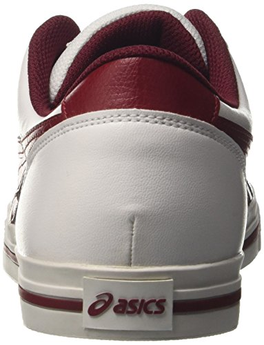 Scarpe burgundy Da Ginnastica Aaron Uomo Basse white Bianco Asics wx417nqgg