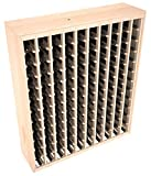 Wine Racks America Ponderosa Pine 120 Bottle Deluxe. Unstained