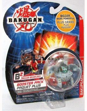 Bakugan Bakupearl Series 2 B2 Booster Pack Bigger Brawlers Grey Blade (Bigger Brawlers Booster Pack)