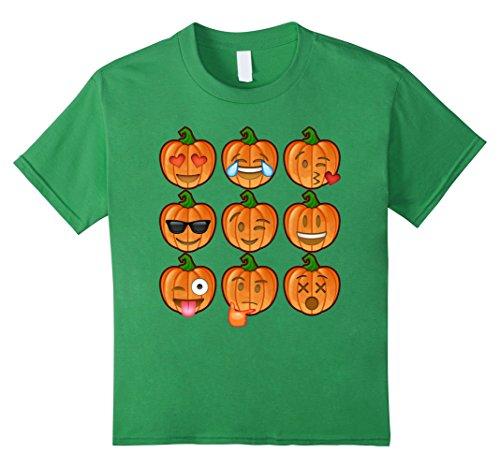 Kids Pumpkin Emoji Halloween Shirt Costume Ideas 2017 6 Grass (2017 Girl Halloween Costume Ideas)