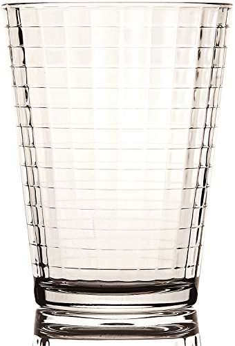 Circleware LQ Windowpane Set of 10 Juice Drinking Glasses, 7 ounce