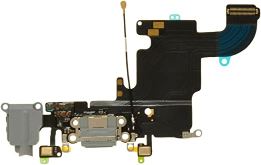 CDMA /& GSM Charge Port, Mic, Headphone Jack, Antenna Flex Cable for Apple iPhone 6S Plus Silver with Glue Card