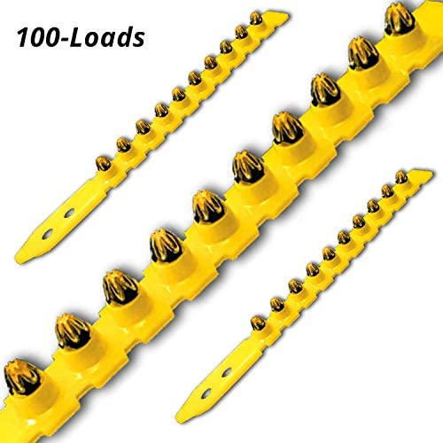 0.27 Caliber Yellow Shot Strip Loads, Power Fasteners Actuated Powder Loads (100-Count)