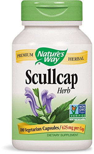 Nature's Way Scullcap Herb, 100 Capsules (Pack of 2) -