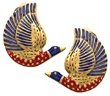 Sale - Museum Reproduction of the Egyptian Enameled Bird CLIP Earrings, From Our Museum Store