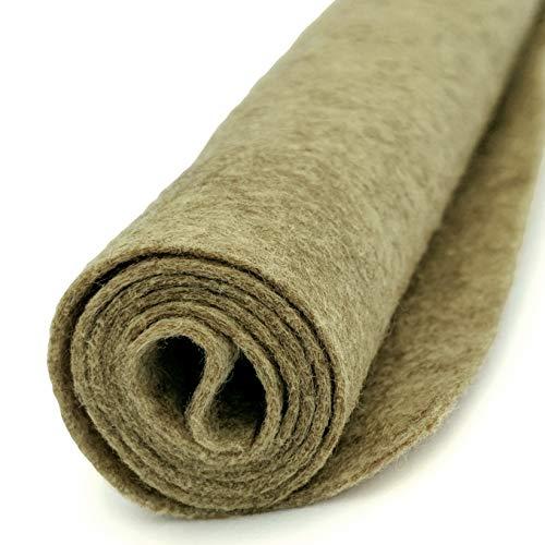 Cobblestone Antique Heathered Tan - Wool Felt Oversized Sheet - 20% Wool Blend - 36 in x 36 in Sheet