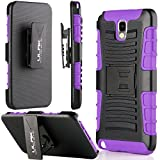 Note 3 Case, Galaxy Note 3 Case - ULAK Rugged Hybrid Hard Case Cover and Belt Clip Holster for Samsung Galaxy Note 3 Note III N9000 with Screen Protector (Purple)