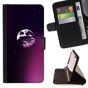 Momo Phone Case / Flip Funda de Cuero Case Cover - Saw Evil Luna;;;;;;;; - Motorola Moto E ( 1st Generation )