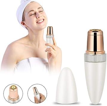 Removedor de vello facial para mujeres mini depiladora a prueba de ...