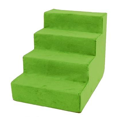 Escaleras BSNOWF- Perros 4 Niveles Verde Almohadilla De Paso para Mascotas Sofá Interior De La