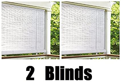 Lewis Hyman 0320146 4 X 6 White 14 Oval Vinyl Roll Up Blinds
