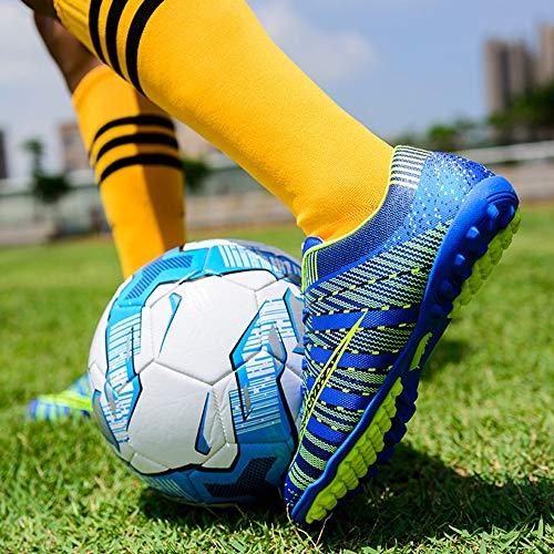 34 Calcio Professionali Calcio Allenamento Per Tf Spikes Uomo Scarpe black Willsky Antiscivolo Bambini Unisex Da Blue wqnIRU6x7F