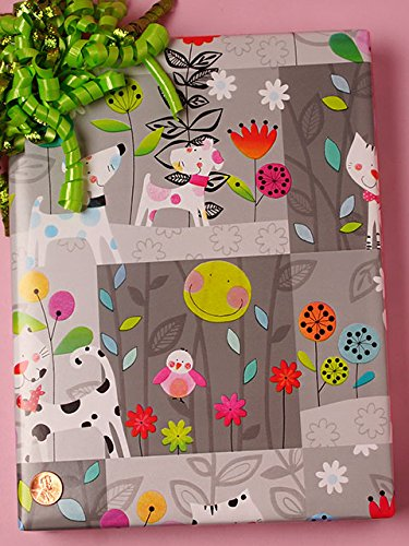 30'' X 100' Polka Dot Pets Gift Wrap by Paper Mart