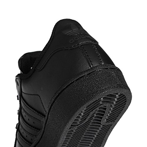 Adidas Originals Superstar Junior Black Leather Trainers Black