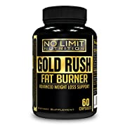 No Limit Nutrition Gold Rush Thermogenic Fat Burner Weight Loss Supplement 60 Capsules - Weight Loss - Natural Energy - Appetite Suppressant - Garcinia Cambogia, Apple Cider Vinegar, Green Tea & More