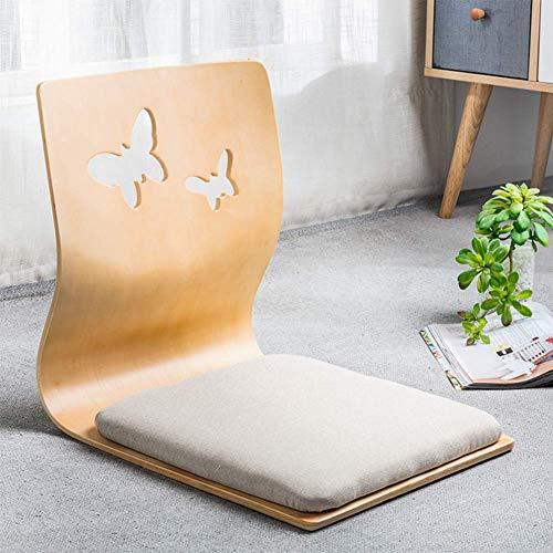 YLCJ Silla Japonesa para Piso Resistente a la Suciedad Material Transpirable y Respetuoso con el Medio Ambiente Silla para Ventana de bano con Silla Pad-f 46x36x42cm (18x14x17inch)