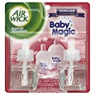 Air Wick Scented Oil Twin Refills Air Freshener, Baby Magic, 2 Count