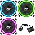 AIGO AigoDIY R3 3-Pack RGB LED 120mm Adjustable Color Case Fan