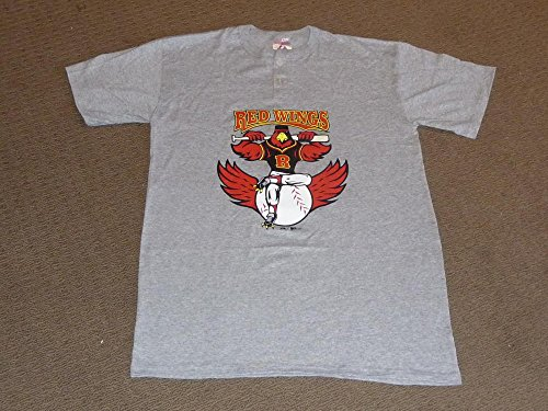 ROCHESTER RED WINGS BASEBALL (MINNESOTA TWINS) BUTTON T SHIRT BRAND NEW ADULT LARGE