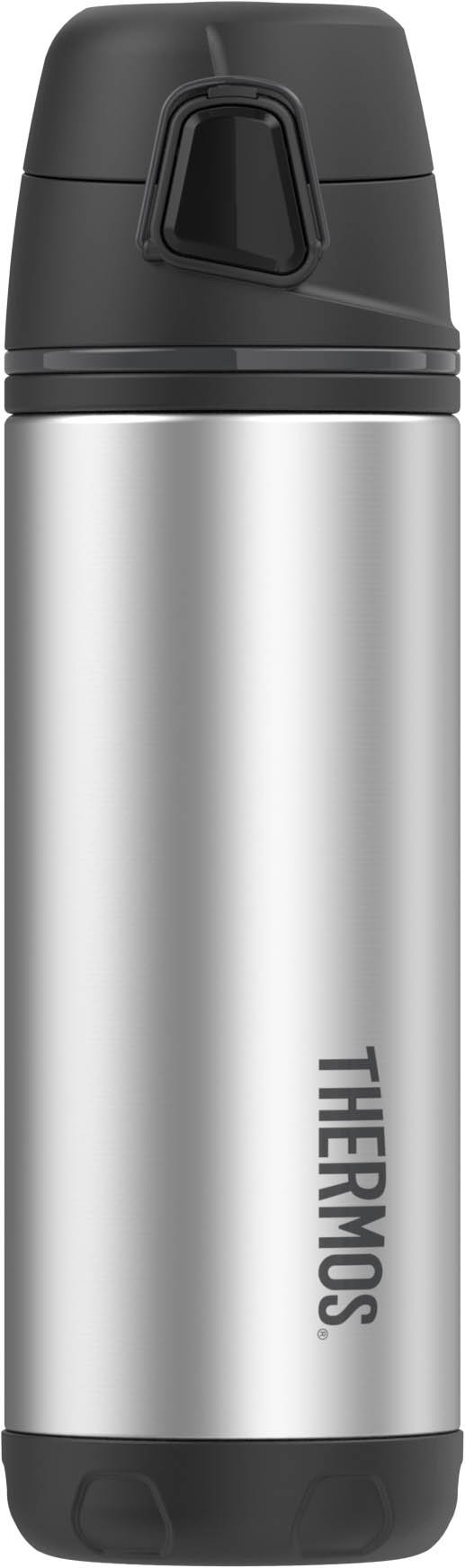 Thermos ELEMENT5 16 Ounce Vacuum Insulated Stainless Steel Backpack Bottle, Black/Gray