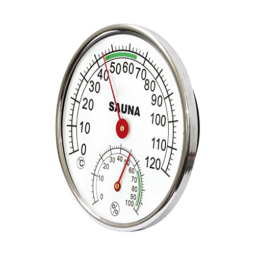 UTP Stainless Steel Thermometer Hygrometer for Sauna Room Temperature Humidity Meter L15