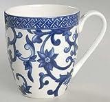 Ralph Lauren Mandarin Coffee Cup Mug, Set of 4, Blue & White Porcelain