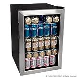 EdgeStar 84 Soda Can Beverage Cooler Fridge - Stainless Steel