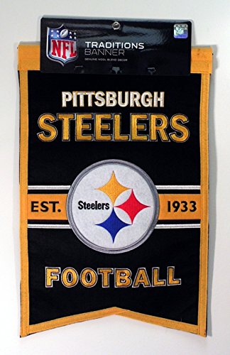 NFL Pittsburgh Steelers Franchise Banner - Steelers Pittsburgh Pennant
