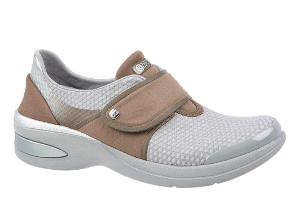 BZees Women's Roxy Sneaker B072133S2G 10W US|Grey Diamond Knit