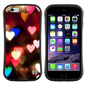 "Hypernova Slim Fit Dual Barniz Protector Caso Case Funda Para Apple (5.5 inches!!!) iPhone 6 Plus / 6S Plus ( 5.5 ) [Corazones Luces Rosa Noche trullo Desenfoque Amor""]"