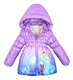 Big Girls Down Coat Hooded Princess Warm Jacket Winter Puffer Bubble Coat 110