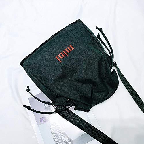 Bag Women Diamondo Shoulder Letter Green Fashion Drawstring Crossbody Print Bags Canvas qwZzP5Z