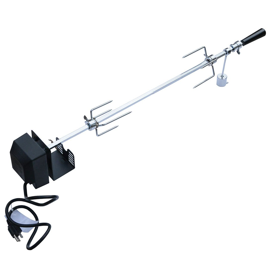 Onlyfire 6020 Universal Rotisserie Kit for Use with Most 4- and 5- Burner Grills (Excluding Weber Gas Grill), Square Spit Rod 41 1/2'', Electric Motor 110V