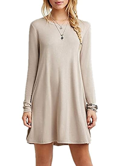 Flowy Long Sleeve Dresses for Teenagers