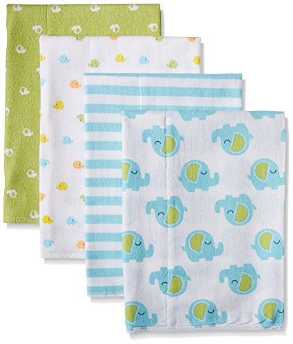 gerber-baby-unisex-4-pack-print-flannel-burp-cloth-elephant-20x14