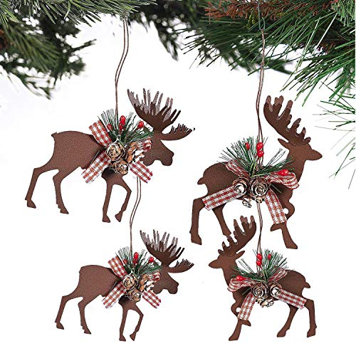 - Fun Express Metal Die Cut Moose & Deer Christmas Ornaments - (6 Pcs./Set) 3 1/2