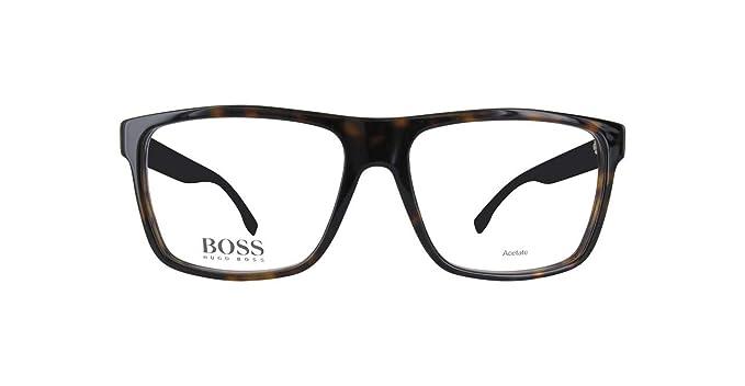 Amazon.com: hugo boss Men s anteojos 0880 HXF oscuro Havana ...