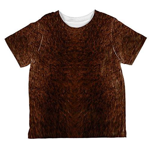 Halloween Beaver Costume All Over Toddler T Shirt Multi -