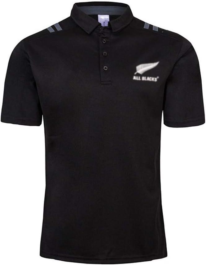 MINGDIAN Camiseta De Rugby Nueva Zelanda All Blacks Sevens Visitante En Casa 2018-19 Polo De Camiseta De Rugby
