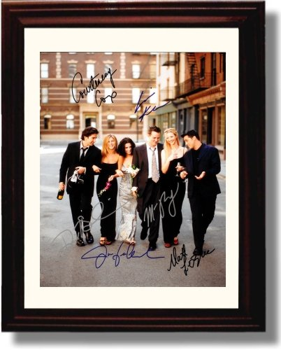 Framed Friends Autograph Replica Print - Friends Cast (Best Friends Framed Print)